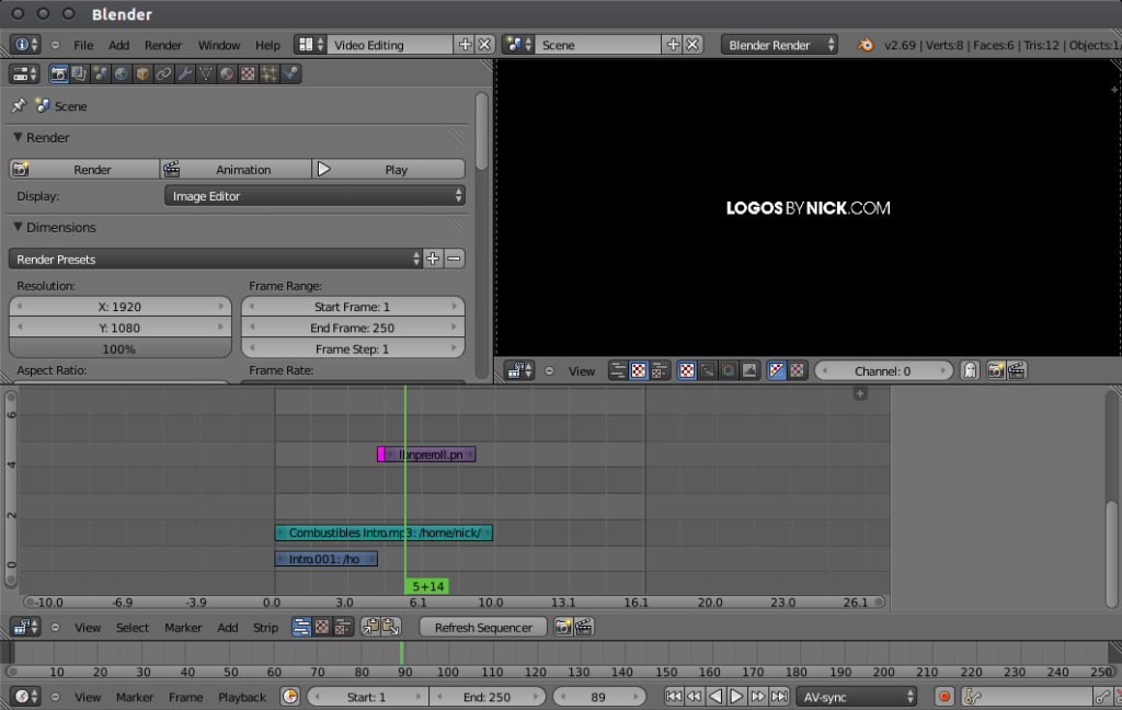 blender video editing