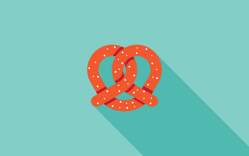 vector pretzel design
