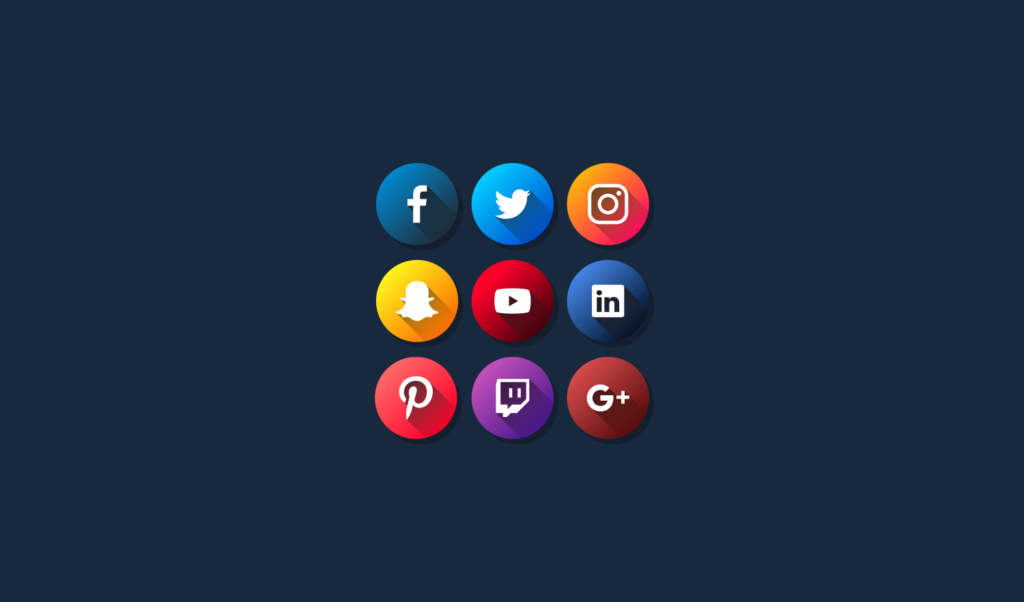 Flat Social Media Icons Free Vector Pack For 2018