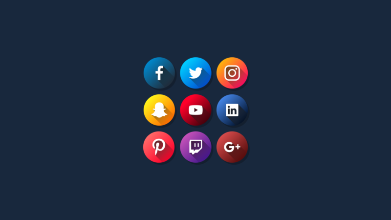 Flat Social Media Icons Vector Pack