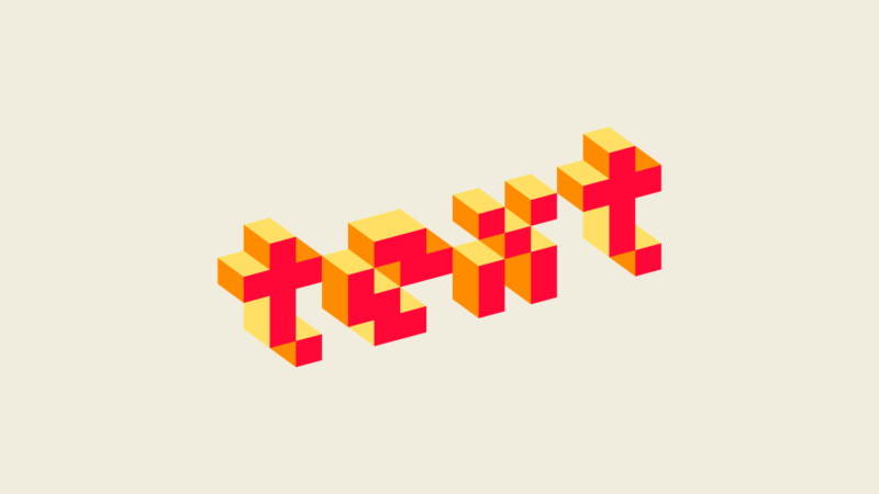 3D Pixel Text Created with Inkscape