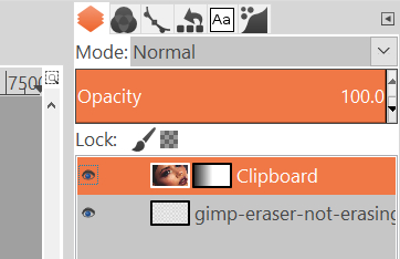 Select the proper layer