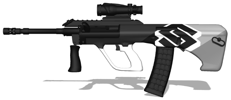 The rendered weapon