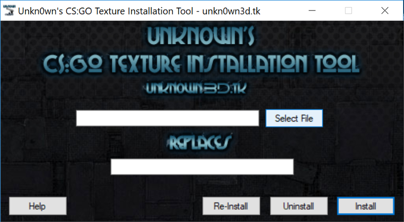 The texture installation tool