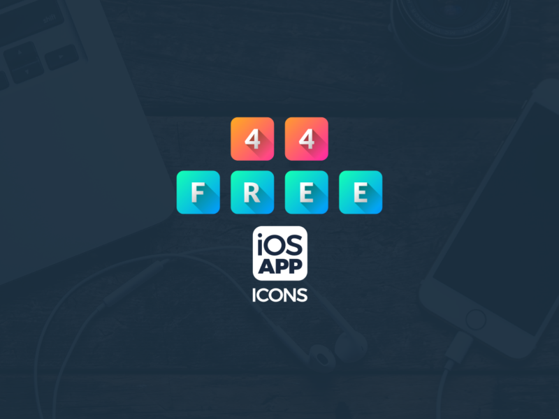 Free iOS app icons header