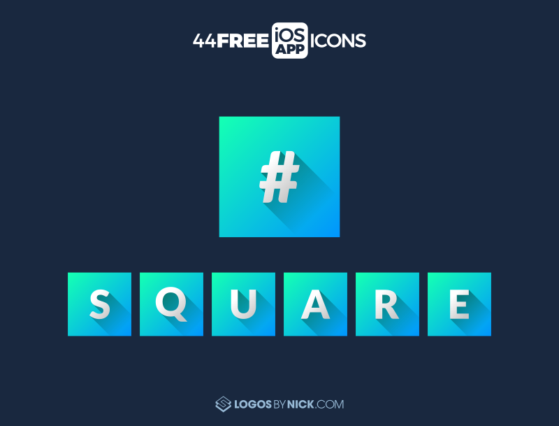 App icons with square corners