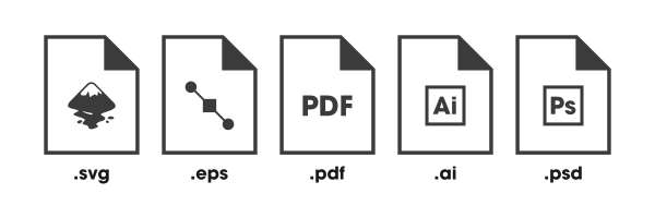 All of the editable logo formats