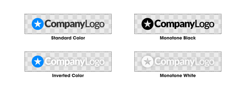 Four different logo color variations
