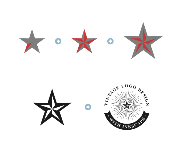 Star design with Inkscape