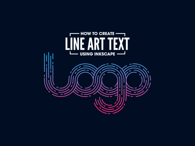 Line art text made with Inkscape