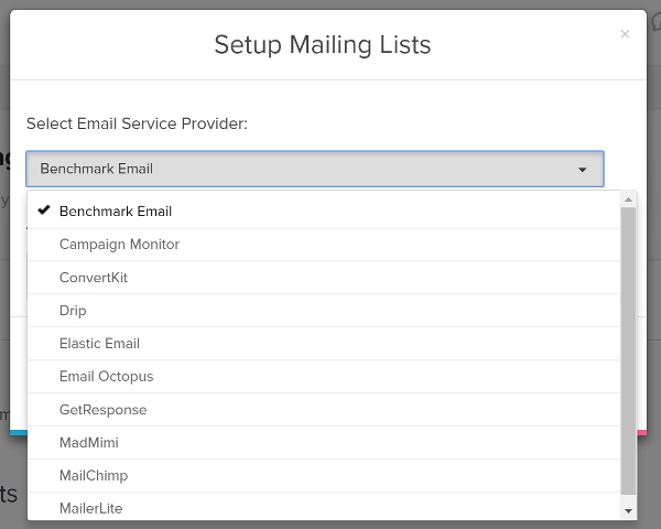 Mailing list integration