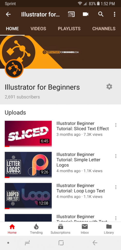 Channel art with contents too small