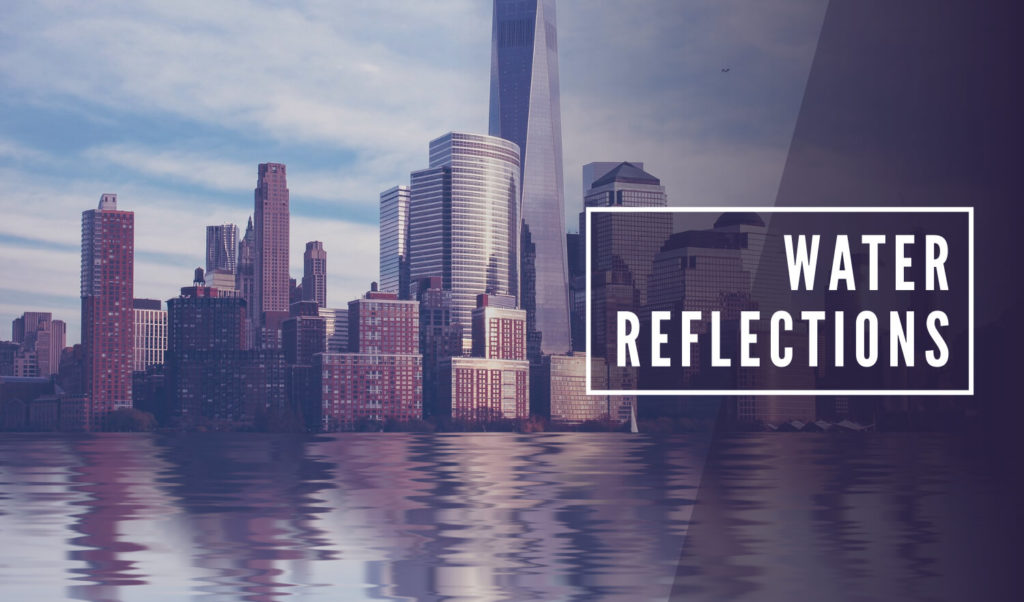 Reflective water effect