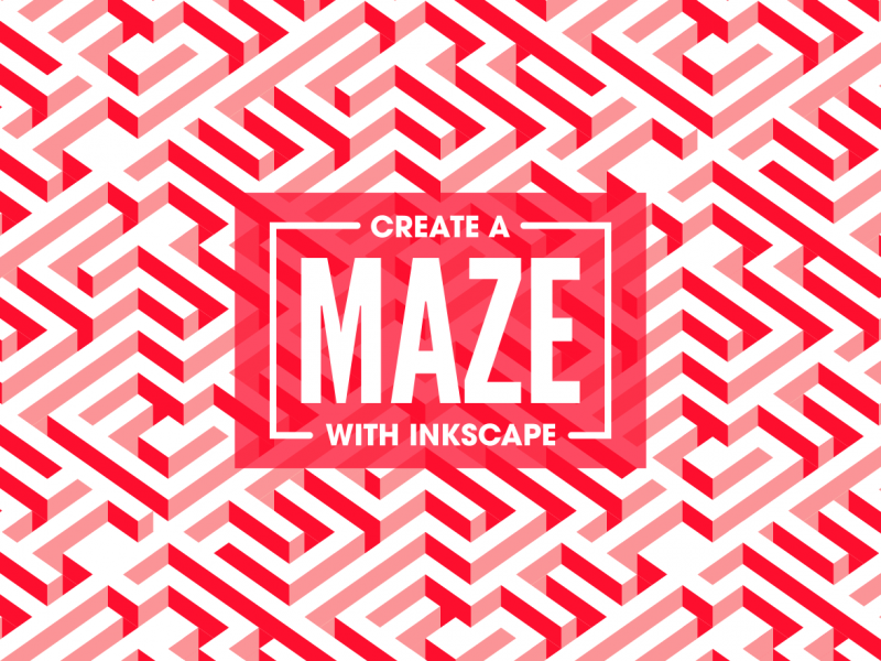 Vector maze Inkscape tutorial