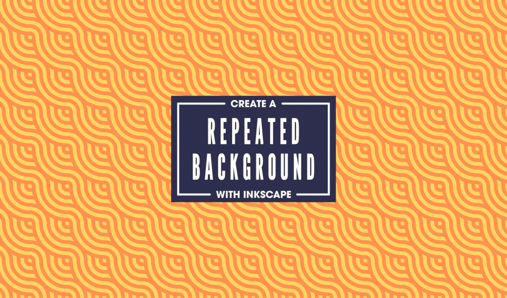 Create repeated background patterns with inkscape