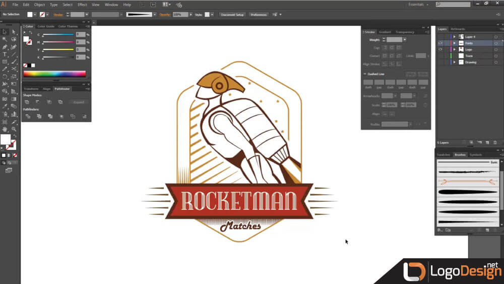 Illustrator finished logo