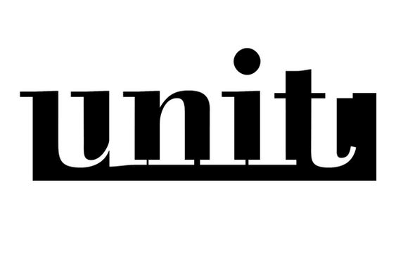 Unit negative space typography