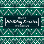 Vector Christmas sweater pattern