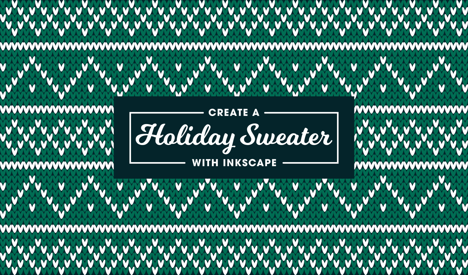 Christmas Sweater Pattern.Create A Vector Christmas Sweater Pattern With Inkscape