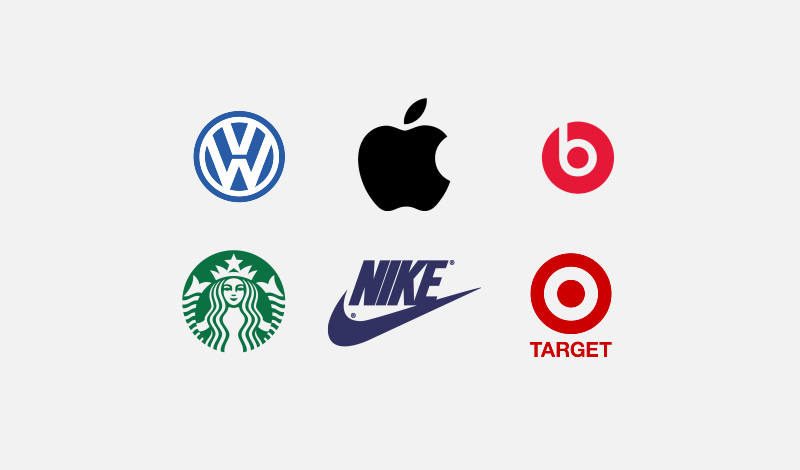 Single color logo examples