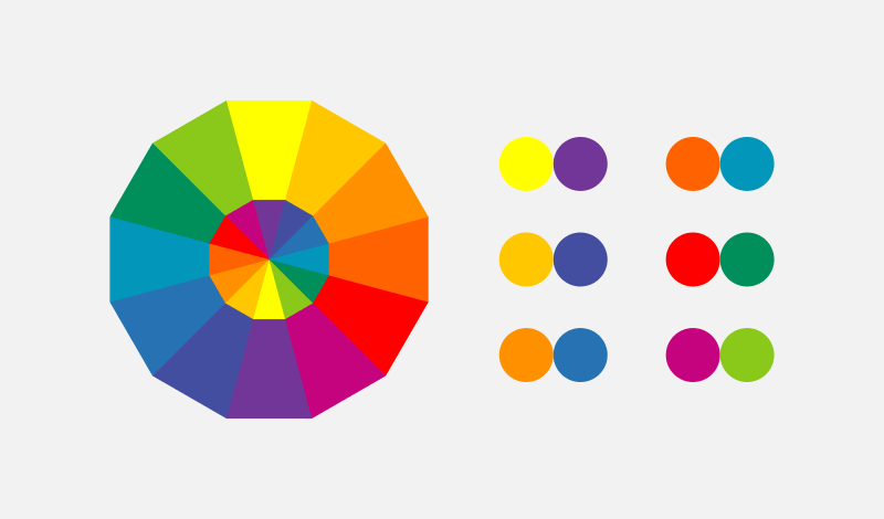 Logo color wheel