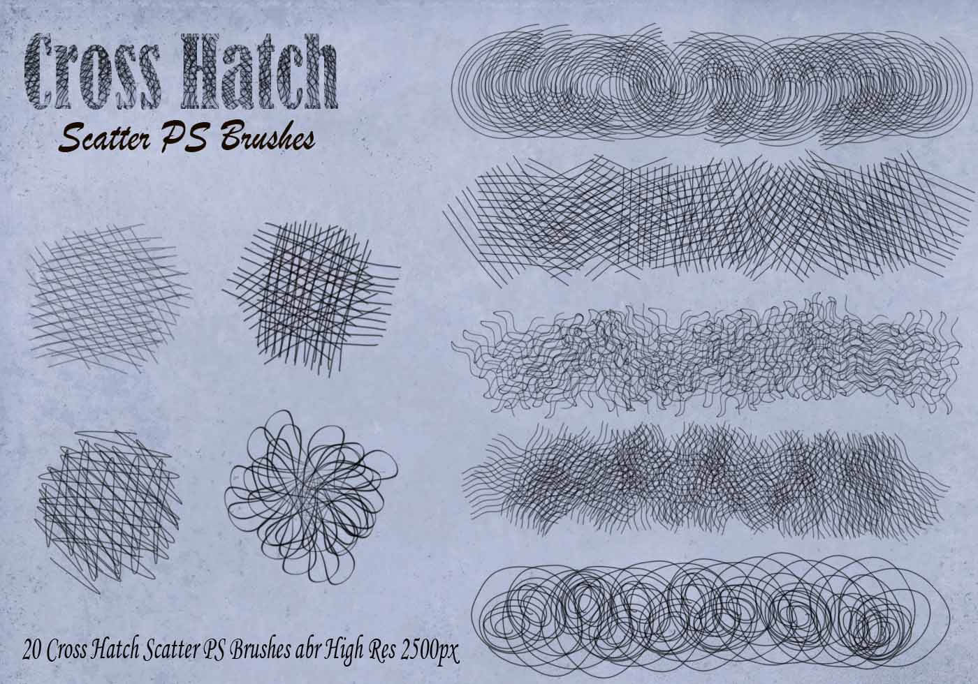 Cross hatch brushes