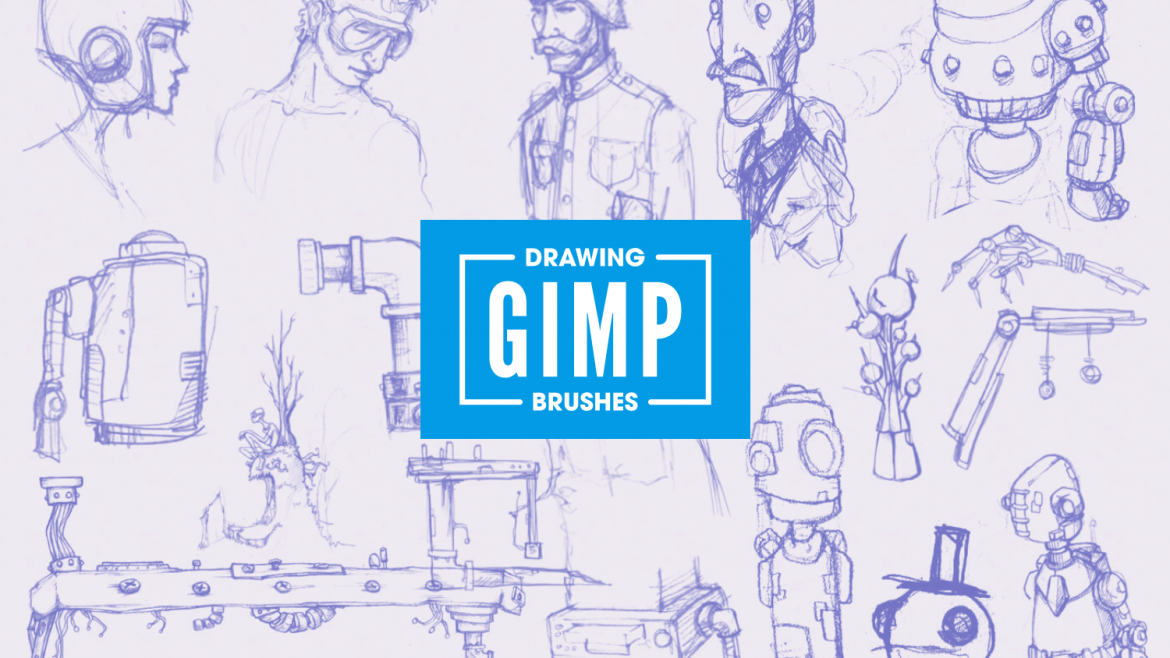 GIMP brushes for drawing