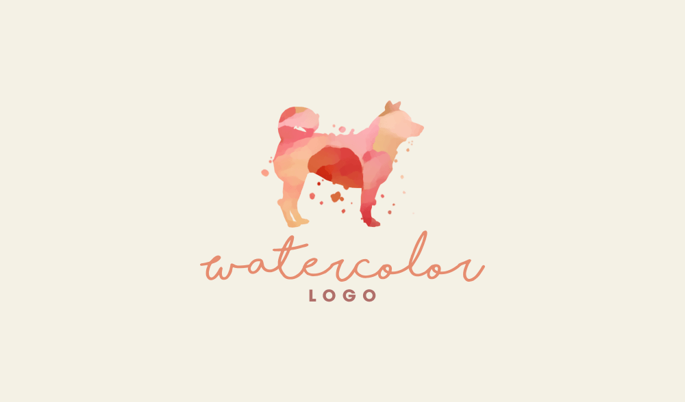 Finished watercolor logo design
