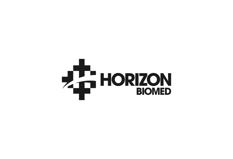 Horizon logo design in monotone