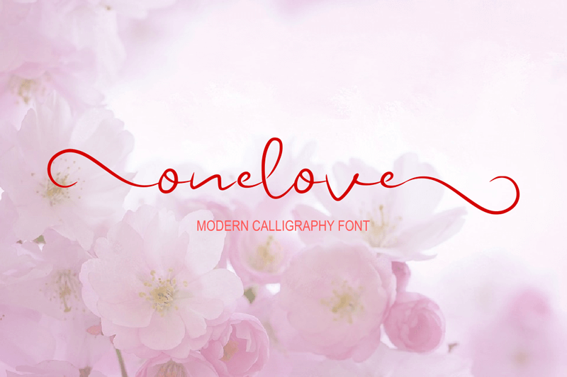 Onelone photography logo fonts