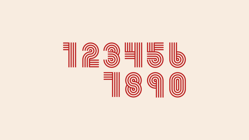 Retro style vector numbers
