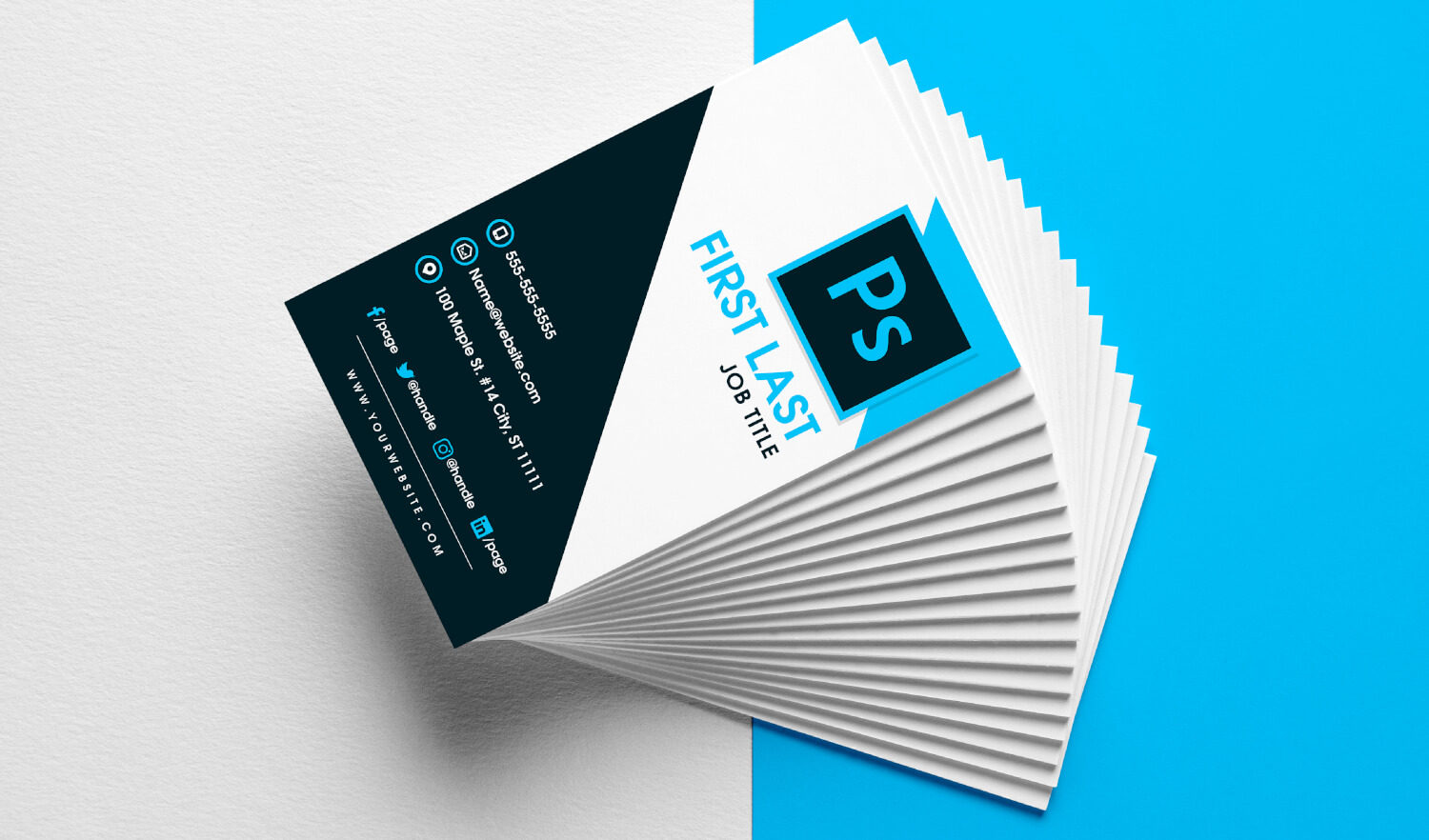 free vertical business card template in psd format