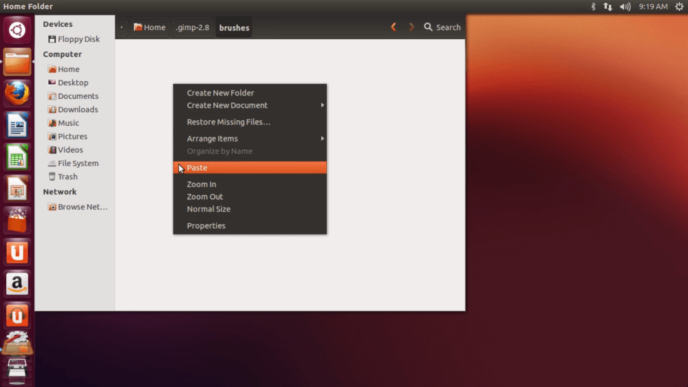 Brushes folder location on Ubuntu