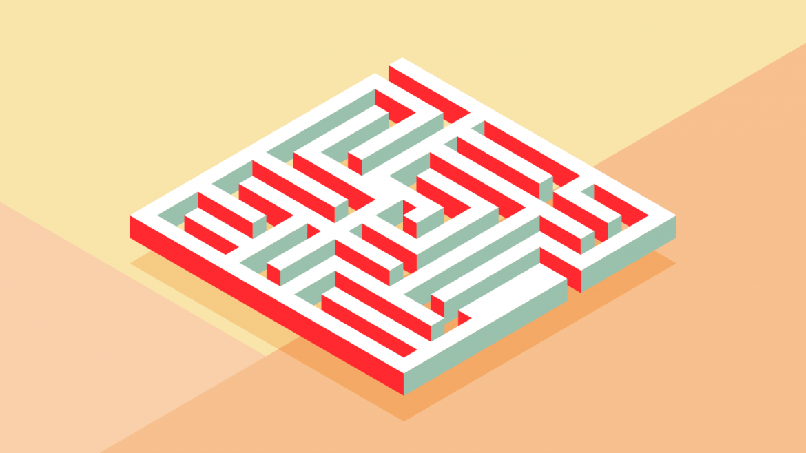 Adobe Illustrator maze tutorial