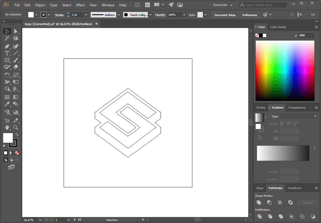 Vector outline in Illustrator
