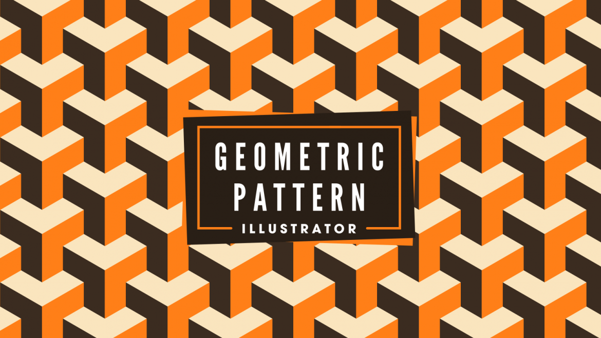 Repeated geometric background pattern