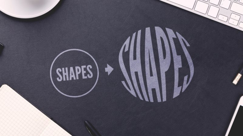 Warp text into shapes with Illustrator