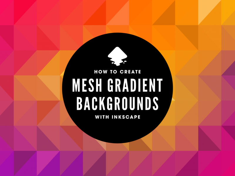 How to create a mesh gradient background with Inkscape