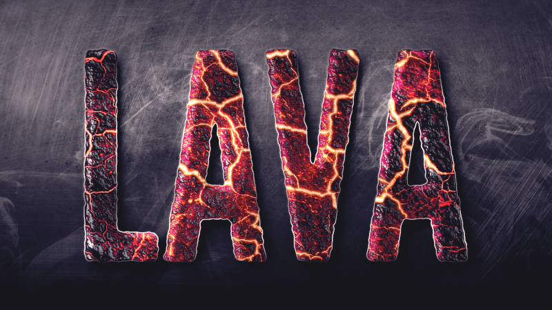 Finished lava text