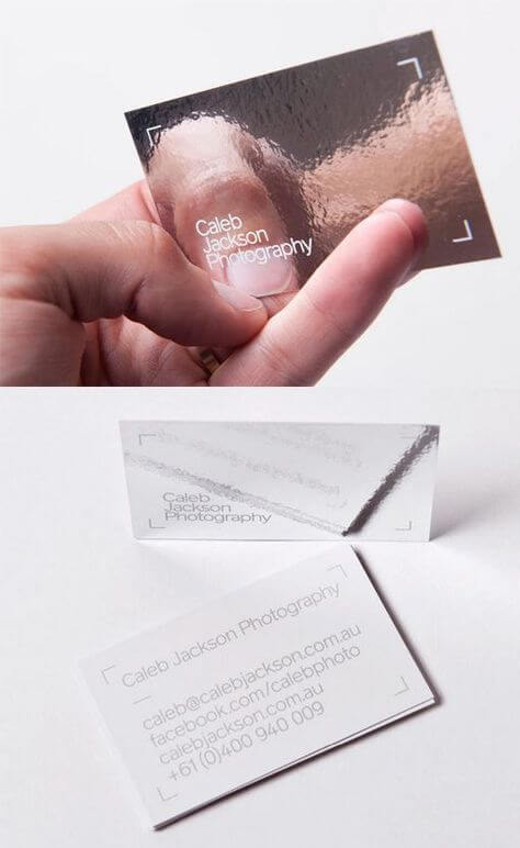 Reflective business card