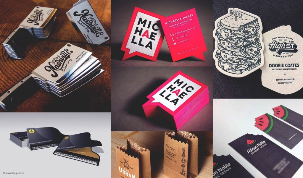 Unique business card shapes