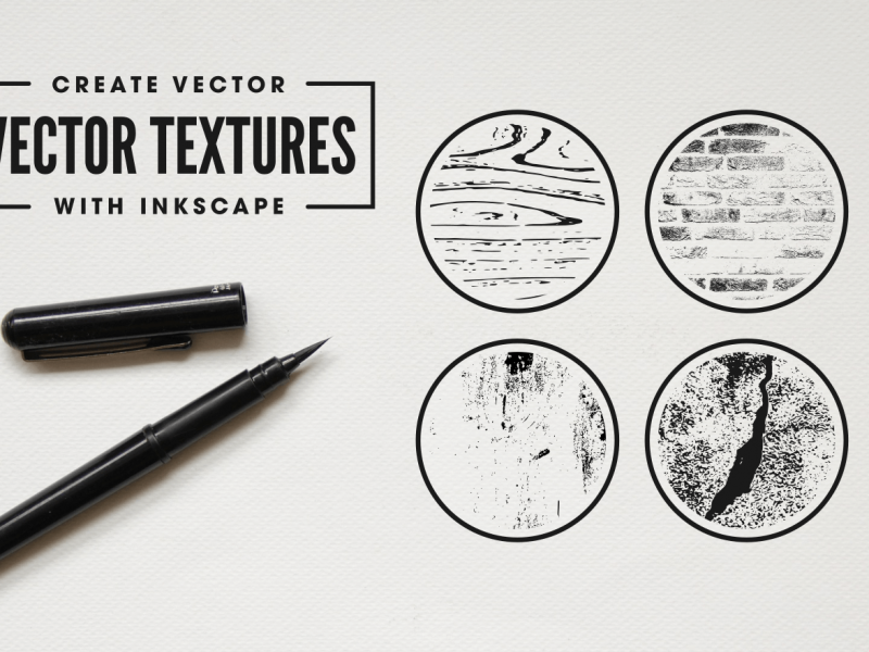 Create vector textures with Inkscape