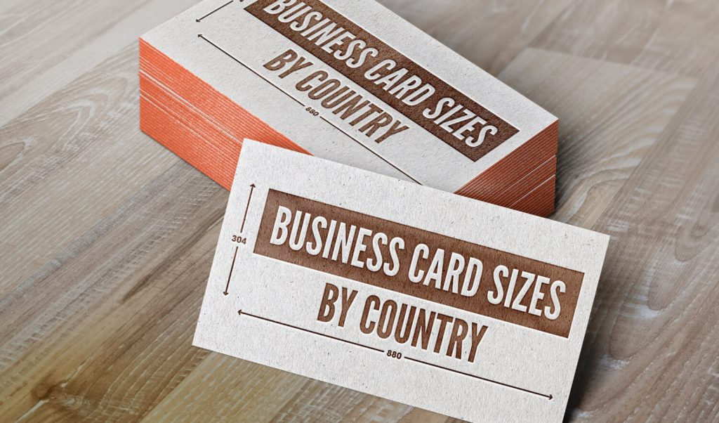 Business card sizes by country