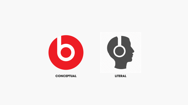 Headphones conceptual logo design