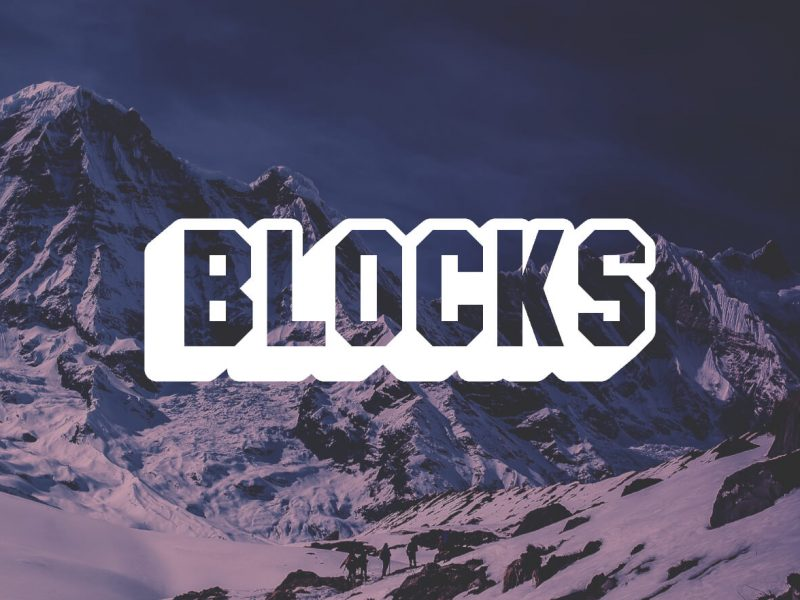 Create block letters with GIMP