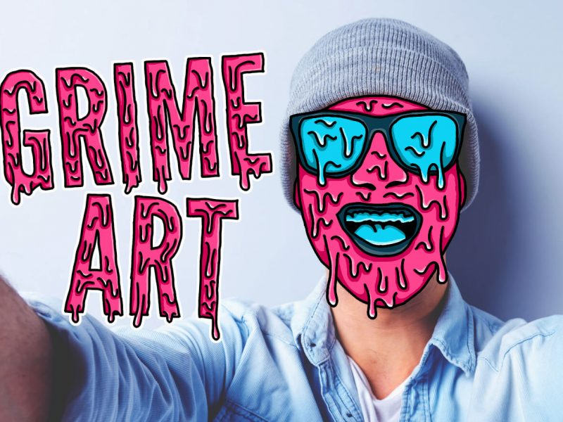 GIMP grime art tutorial