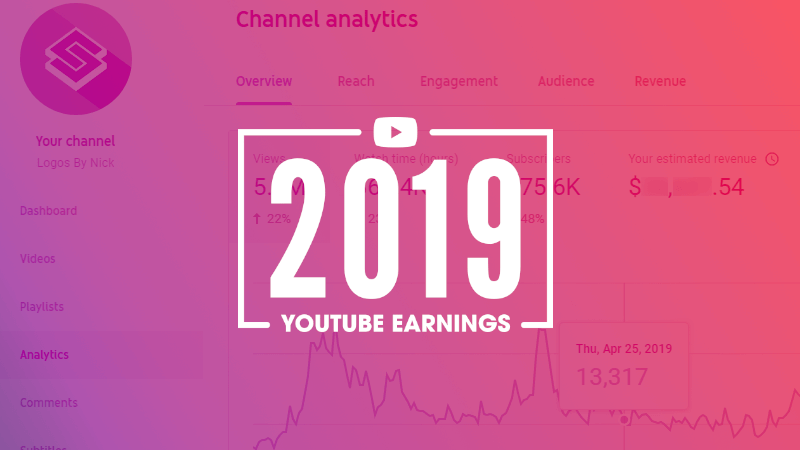 How much money I made on YouTube in 2019