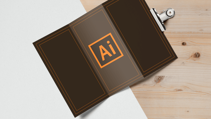 Free tri fold brochure template for Illustrator