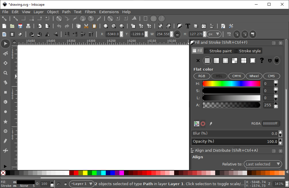Inkscape white background