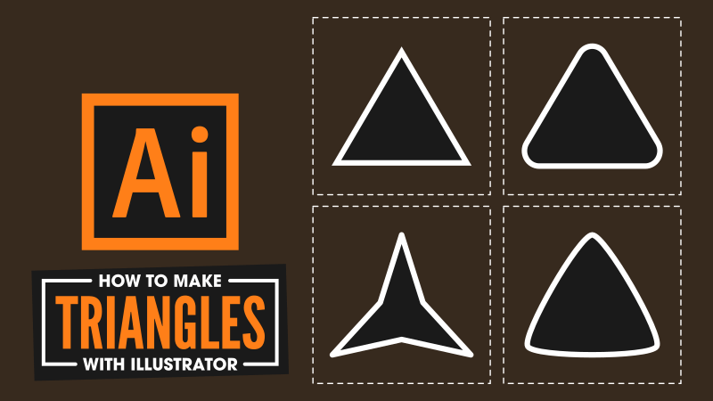 How to make a triangle in Illustrator